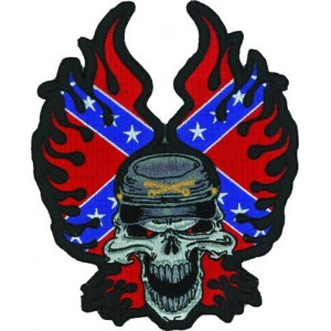 REBEL FLAME SKULL PATCH 23...
