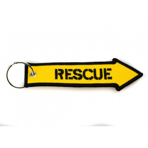 EMBROIDERED KEYCHAIN - RESCUE