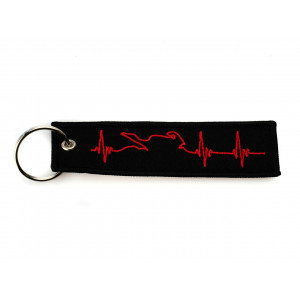 LLLAVERO TAG EMBROIDERY-RED...