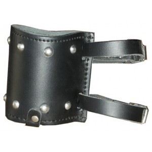 BLACK LEATHER CAN HOLDER...