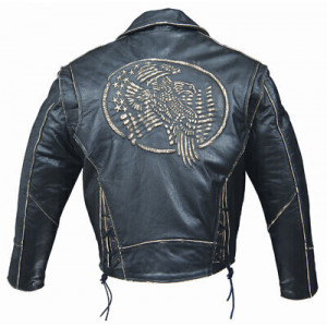 LEATHER JACKET MAN EMBOSSING