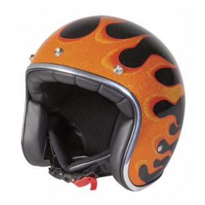 PEARL FIRE ORANGE HELMET