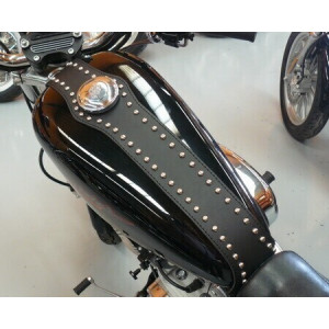 LEATHER TANK COVER WITH...