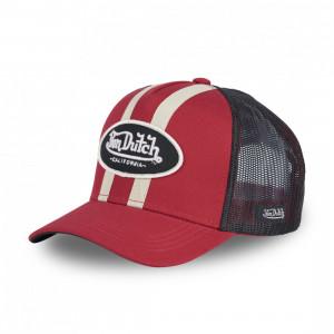 RED CAP WITH BANDS VON...