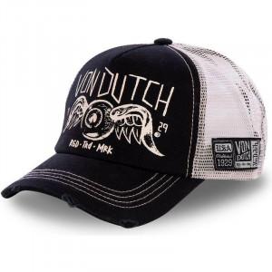 CREW4 CAP BLACK AND WHITE -...