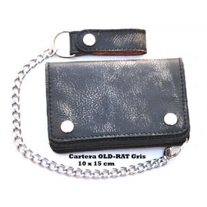 WALLET WITH CHAIN OLD-RAT GREY