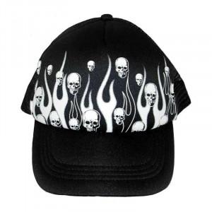 "CAP ""SKULL AND FLAMES"""