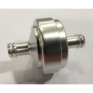 OVAL FUEL FILTER, CHROME