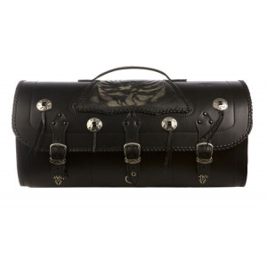"LEATHER TRUNK ""DOSKAS"" BONE..."