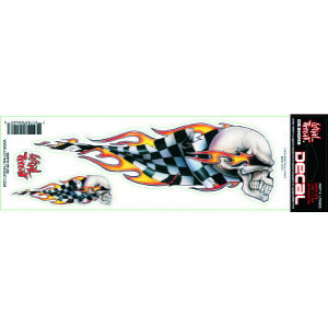 CHECKERED SKULL DECAL 7.6 X...