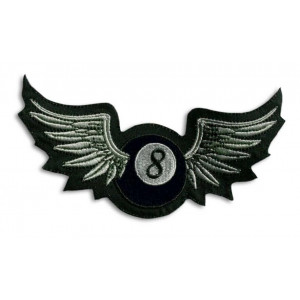 8 BALL WINGS BIG PATCH 27 X...