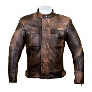 BROWN REAL LEATHER JACKET...