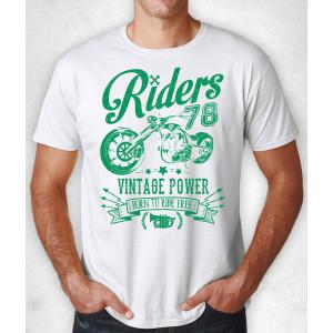 """T-SHIRT WHITE """"RIDERS 78..."""