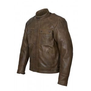 CAMEL REAL LEATHER JACKET...