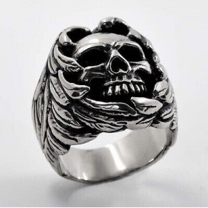 SKULL AND WINGS RING...