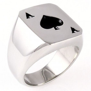 SPADES ACE ROUND RING...