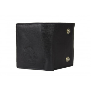 LEATHER WALLET WITH CLASPS...