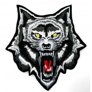 WOLF HEAD PATCH 7 X 7 CM