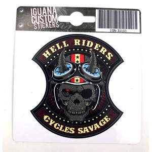 HELL RIDERS DECAL 13 X 15 CM