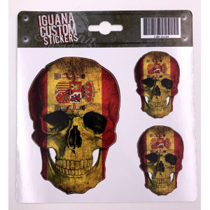 SKULL SPAIN  DECAL 13 X 15 CM