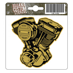 VTWIN GOLD DECAL 75 X 75 MM