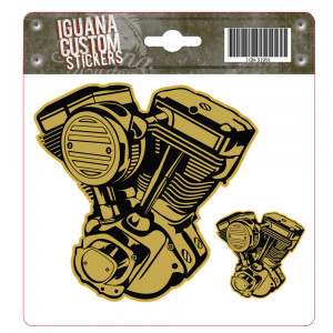 V-TWIN ENGINE STICKER GOLD...