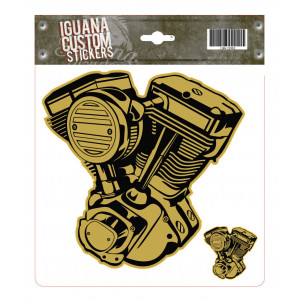 VTWIN ENGINE GOLD DECAL 17...