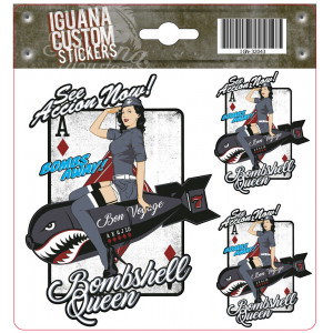 BOOMSHELL QUEEN DECAL 13 X...