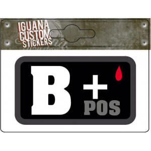 STICKER BLOOD GROUP B+ POS...