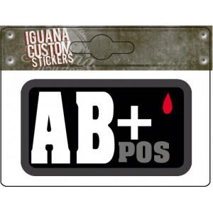 BLOOD GROUP STICKER AB+ POS...