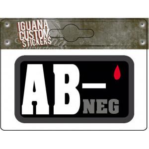 AB- NEG  STICKER 65 X 35 MM
