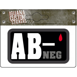 BLOOD GROUP STICKER AB-NEG...
