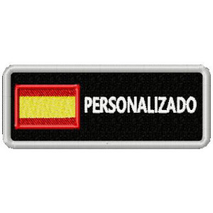 PATCH SPAIN FLAG WHIT NAME...