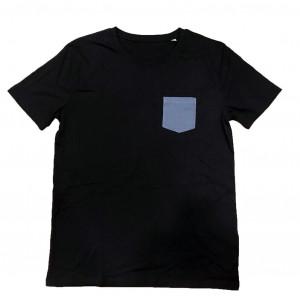 ORGANIC T-SHIRT BLACK WHIT...