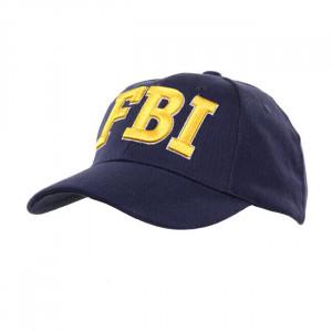 GORRA BASEBALL FBI AZUL Y...