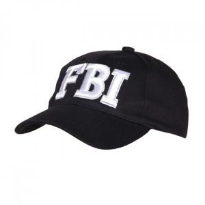 FBI BASEBALL CAP BLACK AND...