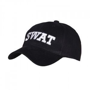 BASEBALL CAP SWAT BLACK AND...