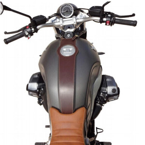 BROWN LEATHER TANK COVER...