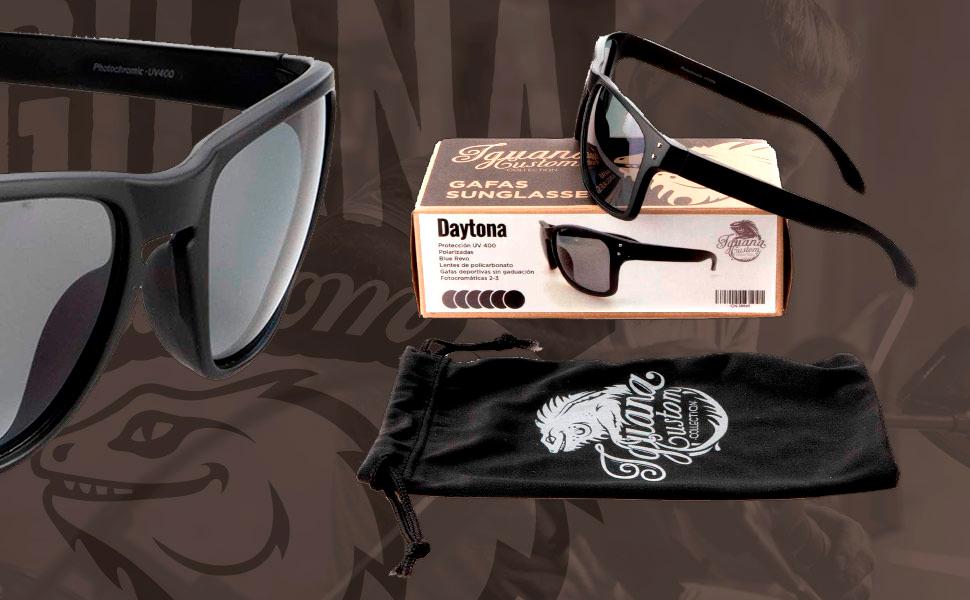 Gafas de sol con paño de microfibra.