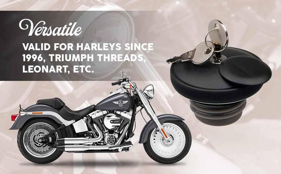 Tank cap valid for custom motorbikes such as Harley Davidson, Triumph, Leonart, etc.
