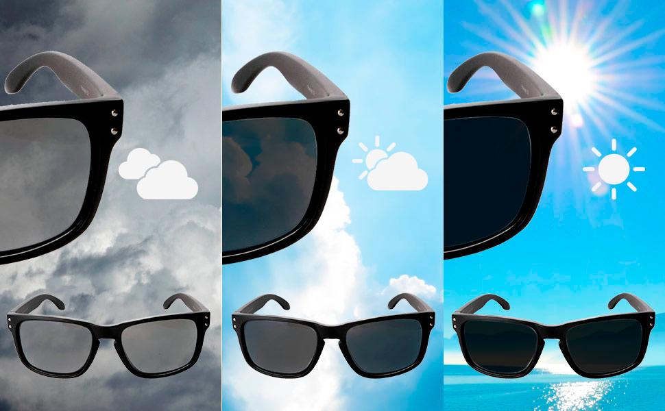 Gafas con lentes polarizadas adaptables para moto Daytona